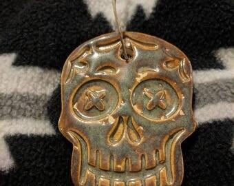 Dead Men Tell No Tales Sugar Skull Ceramic Ornament