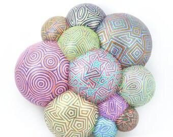 Cosmic Planet, 3D art, ball art, pattern art, visual art