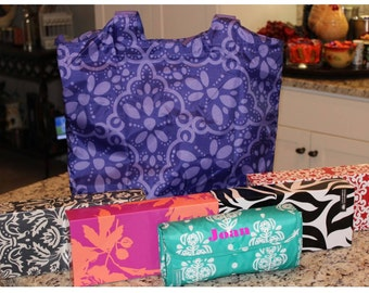 Monogrammed Insulated Lunch Bag / LARGER SIZE/ Great Gift Idea!!!