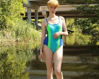 Body I.D.Vintage 1990s High Cut Swimsuit