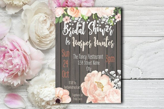 Blush Bridal Shower Invitation