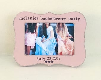Bachelorette party gift Personaized picture frame gift for bridal party Maid of honor frame Bridesmaid frame Best friends picture frame