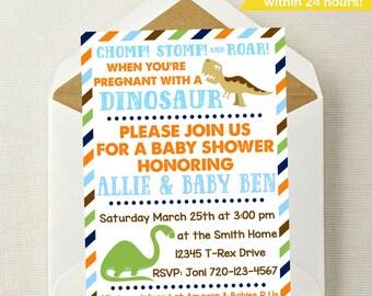 Dinosaur Baby Shower Invitation // Dinosaur Baby Shower // Dinosaur Baby // Dino Baby // Boy Baby Shower Invitation // Boy Baby Shower