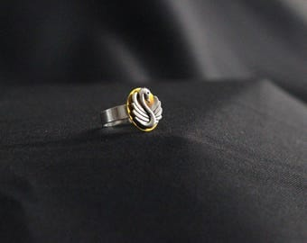 Once Upon a time Emma Swan Silver Ring yellow Bug handmade jewelry OUAT