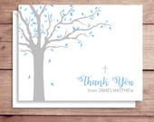 First Communion Note Cards - Communion Thank You Notes - Baptism Note Cards - Tree Note Cards - Personalized Children's Stationery