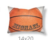 Customized Basketball Pillow Cover-Personalized Pillow Cover-Sports Decor-Linen Pillow Cover-Suede Pillow Cover-Baskeball Pillow Case