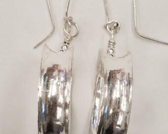 Sterling Silver Anti-clastic hoop earrings!