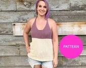 PATTERN ONLY ** Colour Block tank, knit tank top, knit top, knit top pattern, knit pattern, knitting pattern, knit racerback, knit tank top