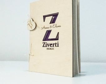 Laser cut guestbook, Wooden Guest Book, Wooden Wedding book, Engraved Guestbook, Wedding Guest Book, Wedding Guestbook, Plywood Guest Book