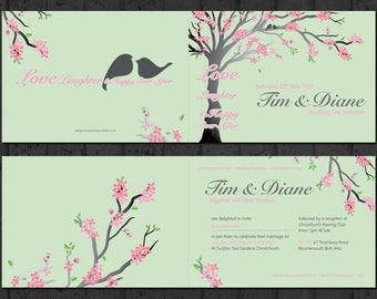 Love Birds | Wedding Invitations and RSVP Cards [Printable - Digital Only]