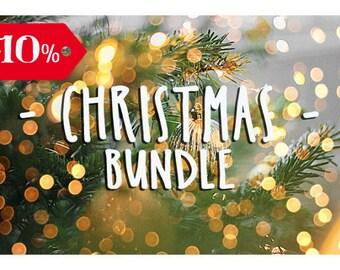 101 Christmas Photoshop Overlays Bundle: Sparklers, Snow, Fireworks, Lights, Bokeh Holiday Photo effect Backdrop, 2018 Calendar template