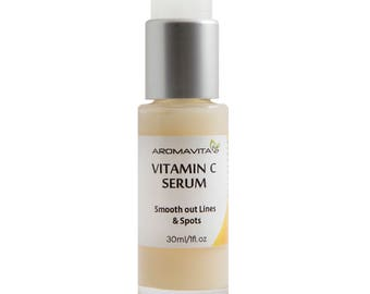 Vitamin C Facial Serum. Intense Hydration + Moisture, Non-greasy. Oil-Free