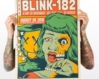"Blink-182 ""Clarkston"" Screen Printed Gig Poster"
