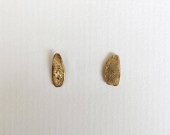 Gold Nugget Earrings, Stud earrings