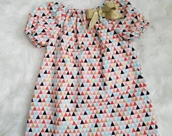 Baby Girls Boho Dress-Girls Boho dress- girls peasant dress/top- Toddler Boho dress-Girls peasant dress-toddler peasant dress-sz NB to 8