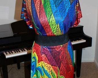 Special Effects Colour Fantasy Carnival Art dress Tunic Dress - Custom printed fabric!