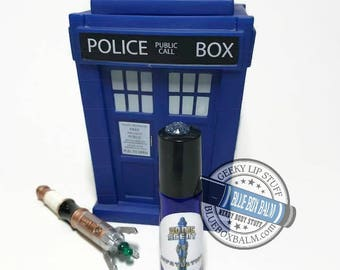 """Sonic Scent - InFATuation - """"Adipose"""" Doctor Who Inspired Body Scent - A Fun Marshmallow Fragrance in a Blue Glass Roller Bottle"""