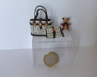 Real leather miniature bags