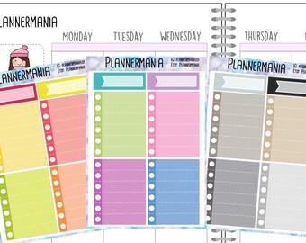 Full Box Stickers, Planner Stickers, Checklist Stickers, Neutral Stickers, Pastel Stickers, Functional Stickers - 910