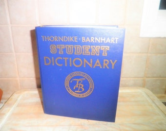 Vintage Thorndike Barnhart Student Dictionary