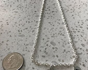Maryland initial necklace, Maryland jewelry, state jewelry, state necklace, state of Maryland necklace, silver Maryland necklace