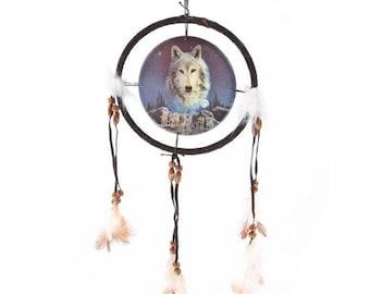 Wolf  Dream Catcher small 16cms diameter