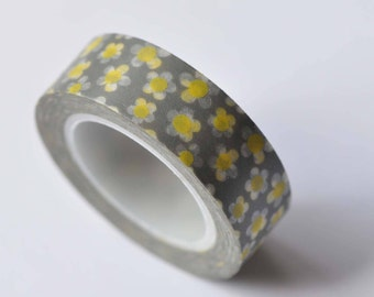 Beautiful Yellow Flower On Pink Washi Tape 15mm Wide x 10M Roll No.12588