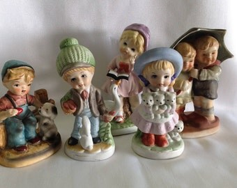 Vintage Bisque Figurines