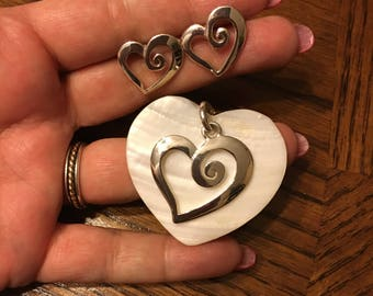Heart On Heart Pendant Set