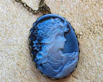 Cameo Pendant, Cameo, Pendant, Necklace, Gift Ideas, For Her, Statement Necklace