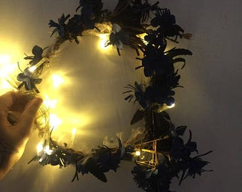 Handmade Light-up Flower Crown