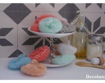 Zéro déchet avec ces éponges tawashis, légèrement abrasives pour la salle de bains et la cuisine