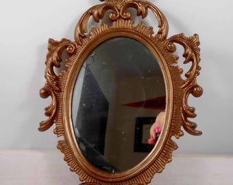 Ornate Polish Mirror,Poland,gold,wall mirror,polish,krakow,historical,scrolls,antique mirror