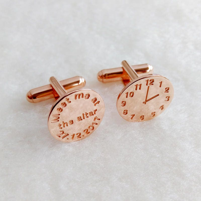 Meet Me at the Altar Cufflinks,Personalized Wedding Cufflinks,Groom ...