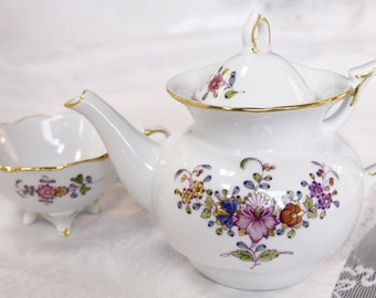 VSC Hand Painted Gentle Oriental Tea for One, Teapot, with Multi Colour