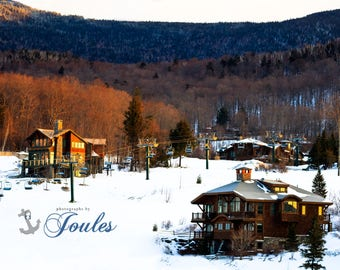 Stowe Morning Light ~ Stowe, Vermont, Skiing, Mountain, Snowboarding, Art, Artwork, Photograph, Joules, New England, Snow, Winter Scenes