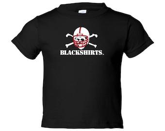 Nebraska Cornhuskers Toddler BLACKSHIRTS Logo Tee Shirt Youth Apparel Officially Licensed Husker Gear By CornBorn Apparel
