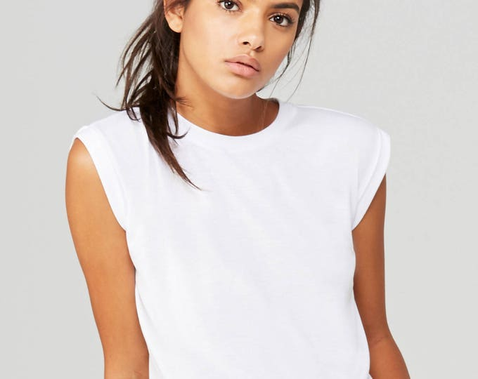 Flowy Muscle Tee White - Wholesale Only - We will print your chosen design!