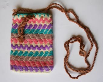 Mazahua bag with embroidery  - color: Pastels