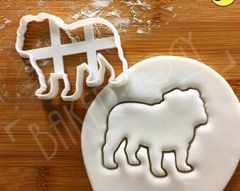 Bulldog cookie cutter | English bulldog face biscuit cutter | bull dog fondant cutter |clay cheese cutter | one of a kind ooak | Bakerlogy