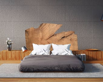 Live Edge Headboard - Beautiful 84 X 48 Wood Slab, Handcrafted into Unique,  One