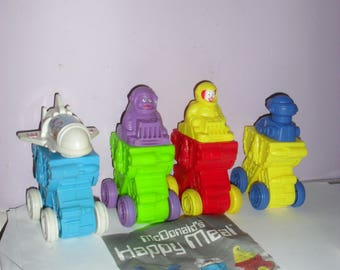 Set of 4 McDonalds Happy Meal Toys 1995 INTERGALACTIC Space Party. ... Ronald, Grimace, Hamburglar and Birdie.