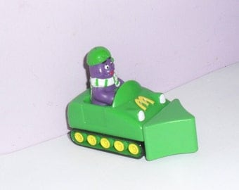 Grimace Snow Plough. McDonald's Happy Meal from 1994. Grimace, Ronald McDonald, Hamburgler, Birdie, Burger, Transformer
