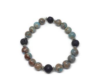 Calsilica Jasper Diffuser Bracelet, Calsilica Jasper Jewelry, Gemstone Diffuser Bracelet, Diffuser Jewelry, Essential Oil Diffuser