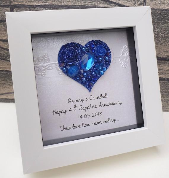 Wedding Anniversary Online Gifts: 45th Wedding Anniversary Gift 45th Anniversary Gift Sapphire