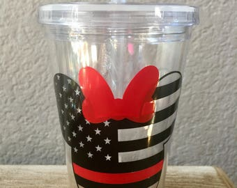 Red Line Minnie Mouse Tumbler
