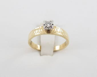 14k Yellow Gold Diamond Engagement Ring - Great Promise Ring
