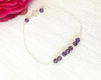 Amethyst Birthstone Bracelet