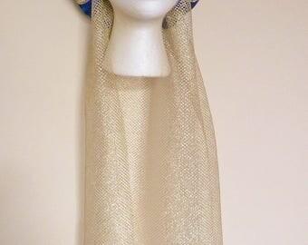 Royal Blue & Gold Medieval Headdress Gothic Headpiece custom made Wedding Circlet Renaissance fantasy costume accessories fair