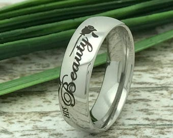6mm Personalized Wedding Ring, Stainless Steel Wedding Ring, Stainless Steel Wedding Ring,Ring for Her, Ring for Him
